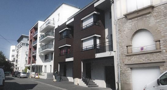 Immeuble collectif « Balcons de la Rotonde » + deux maisons groupées